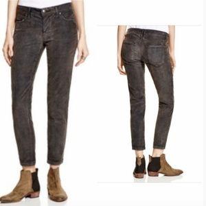 Free People Charcoal Gray Skinny Corduroy Pants